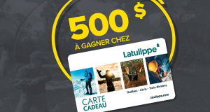 Une carte-cadeau de 500 $ chez Magasin Latulippe