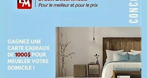 Une Carte-cadeau de 1000$ chez Brault-Martineau