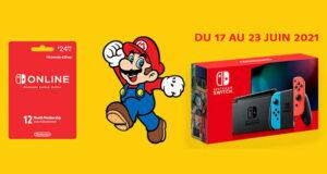 Gagnez Une Nintendo Switch + abonnement d'un an à Nintendo