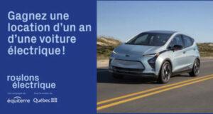 Gagnez une location d'un an d'une Chevrolet Bolt EV 2022