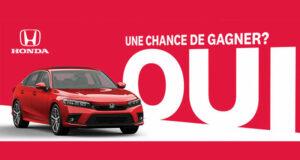 Gagnez Une berline Honda Civic Touring 2022 (Valeur de 32096 $)