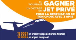 Gagnez un crédit voyage de 15 000 $ + 10 000 $ en argent