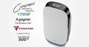 Gagnez un purificateur d'air Cyclo Vac