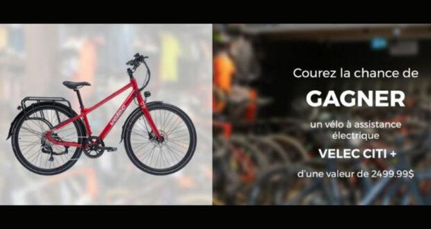 Gagnez un vélo à assistance électrique VÉLEC CITI (Valeur de 2500 $)