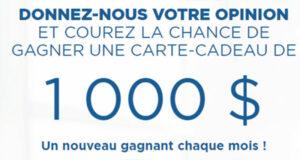 Gagnez une carte cadeau Jean Coutu de 1000 $