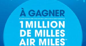Gagnez 1 million de milles AIR MILES