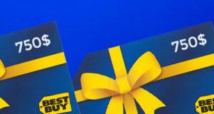 Gagnez 2 cartes-cadeaux Best Buy de 750 $ chacune