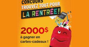 Gagnez 2000 $ en cartes cadeaux Jean Coutu