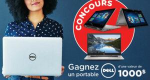 Gagnez un ordinateur portable Dell (Valeur de 1000 $)