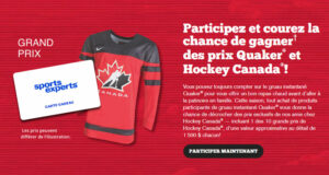 Gagnez 10 grands prix Hockey Canada de 1500 $ chacun