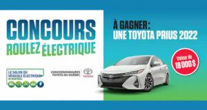 Gagnez un véhicule électrique Toyota Prius 2022 (Valeur de 18000 $)