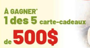 Gagnez 5 cartes cadeaux Metro de 500 $