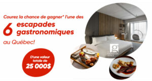 Gagnez 6 escapades gastronomiques dans un hôtel Germain (25 000 $)