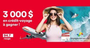 Gagnez un crédit-voyage de 3000 $